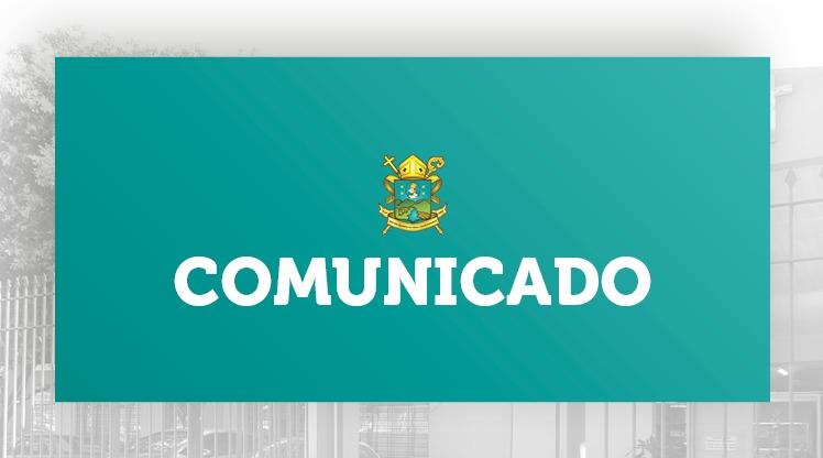 COMUNICADO DO BISPO DIOCESANO